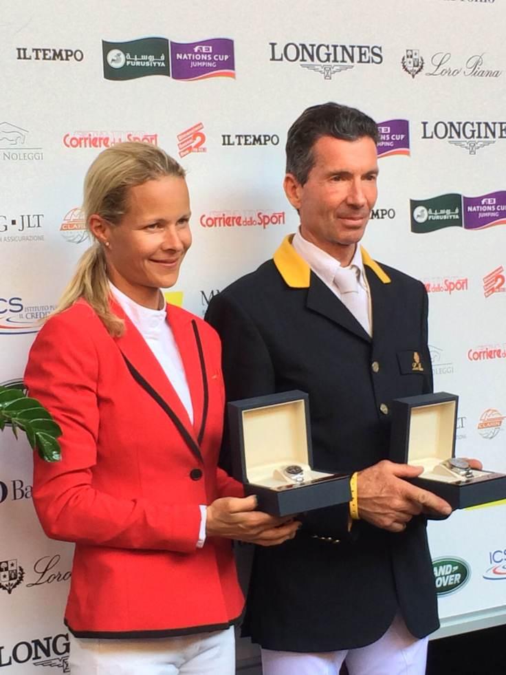 Malin Baryard-Johnsson and Filippo Moyersoen